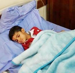مصر – القاهرة : دخول الطفل : عيد رشاد عيد شراب المشفى … عافاه الله