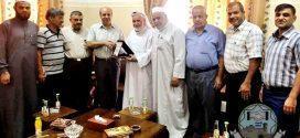 زار وفد من عائلة شراب جامعة فلسطين فرع محافظة خان يونس
