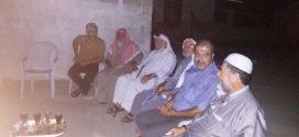 وفد من عائلة شراب يقوم بزيارة معايدة لعضو مجلس العائلة الشيخ أحمد سلمان شراب